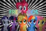 Mane 6 grunge effect by BronyYAY123