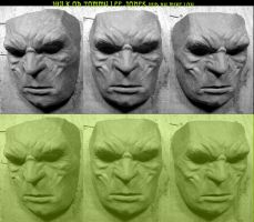 Hulk or Tomy Lee Jones Mask WIP by Uratz-Studios