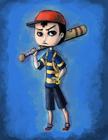 :.Earthbound.: Courageous Lad by orribu