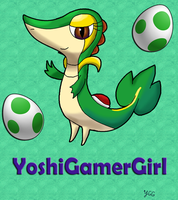 Snivy as Yoshi (Youtube icon) by YoshiGamerGirl
