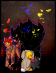 The bunny and beasts by BrokenBound