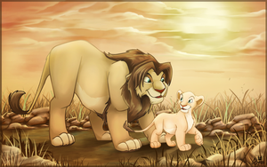 Nala and her Dad by charfade