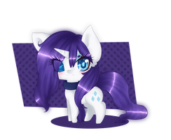 :PC: Chibi Sapphire eye Rarity by Annette-Dreams