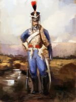 Quick Sketch French Hussar by Mitchellnolte