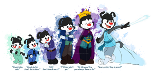 Frozen/Animaniacs AU - The Imprisoned King by FaithFirefly