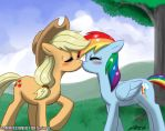 AppleDash Kiss Commission by johnjoseco