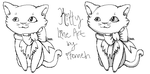 Kitty Lineart READ DESCRIPTION by iFerneh