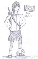 aph: Scotland sketch by LoveEmerald