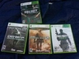My brothers COD games... by BrandiSwick227
