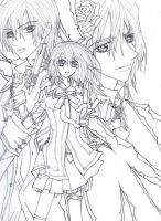 Vampire Knight Lineart by sheenabon