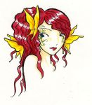 Red haired girl by Mili-chan