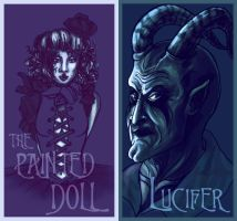 Lucifer + The Painted Doll Gift Art by RunawayKid