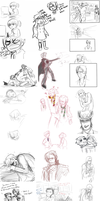 Ace Attorney Sketch Dump pt1 by izzy1992