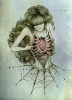 Spiderwebs and strawberries by zeloco