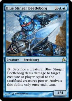 Blue Stinger Beetleborg MTG card by dixyn0rmous