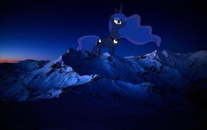 Luna in a mountain by OtterP