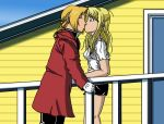Ed x Winry Kiss by edwinluvr