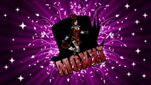 Borderlands 2 - Moxxi Wallpaper (Purple) by mentalmars