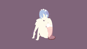 Rem (Re: Zero) Minimalistic by Ancors