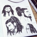 Much love for the Man Bun - Inktober 26/31 by LonelyFullMoon