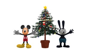 [MMD] Oswald and Mickey with Christmas tree by ElMarcosLuckydel96