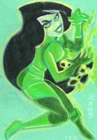 Shego Color Sketch Card by LEXLOTHOR