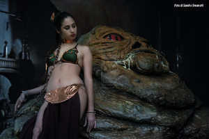 Leia And Jabba 37 by Darthsandr