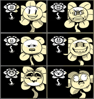 [Undertale] Flowey expression meme by EunDari