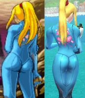 Zero Suit Samus's butt by Sybb