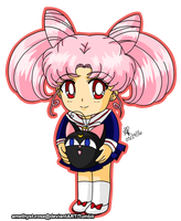 Chibi-usa and Luna-P by amethyst-rose