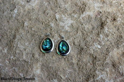 Opal drop earrings by BlackWings-jewelry