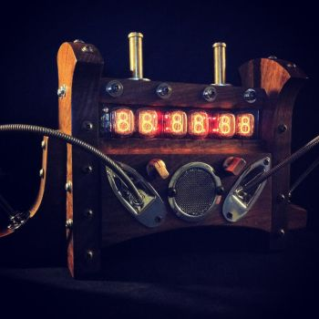 Steampunk Nixie Tube Clock by steampunk22