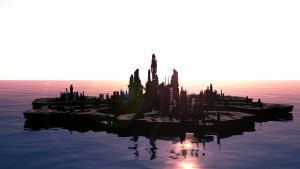 [Cinema 4D] Stargate: Atlantis wallpaper - Sunrise by ericek111