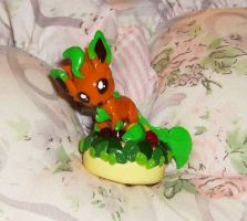 Shiny Leafeon One Layer Cake by LaPetitLapearl