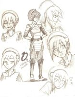 character sketches: Toph by compoundbreadd