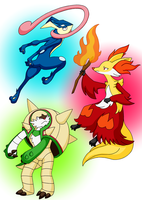 Warrior, Mage and Rogue by Sliv-Pie