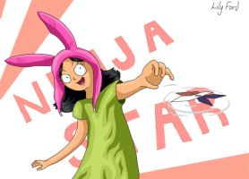 Ninja Star (bobs burgers fan art) by lily-artist