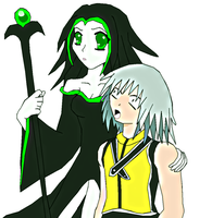 Young Maleficent and Riku. by lady-warrior