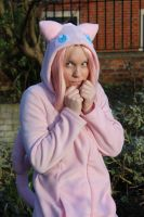 Mew- Gijinka hoodie by Leonie-Heartilly