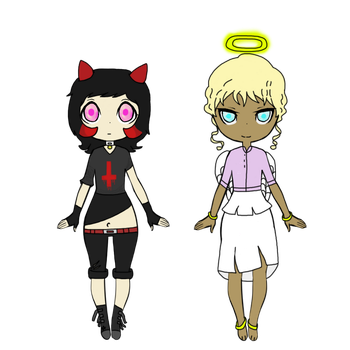 Angel and Devil adopts open! by Zer0-Adopts