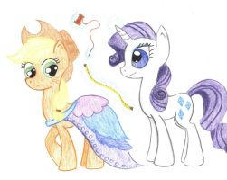 Applejack and Rarity by johnpaulgeorgeringo6