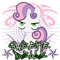 Sweetie Belle spray by ThaddeusC