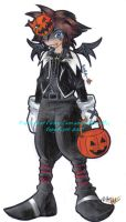 kh chibis - halloweentown sora by AsakuraMei