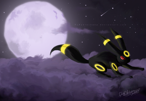 Advent Request#13: Umbreon by FluffableSheep