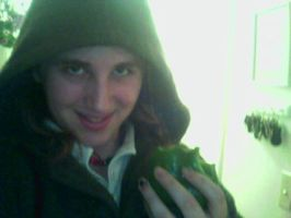Me...and a green bellpepper by PippinIncarnate