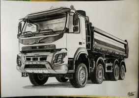 Volvo FMX drawing by alainmi