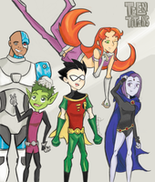 The Teen Titans by RedUmbrellaMonster