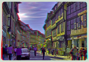 The Half-timbered houses of Wernigerode 3D by zour