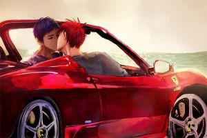 Kiss In the Car by applelovesjelly