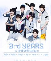 Infinite _ 3rd years anniversary _ graphic by mhSasa